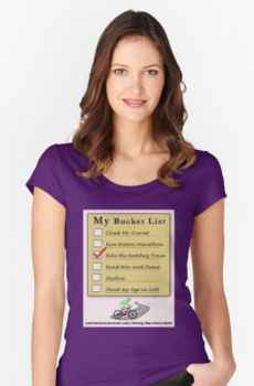 My Bucket List - Women's Fitted Scoop T-Shirt