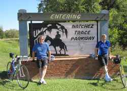 The journey began at the southern terminus of the Trace - milepost 0