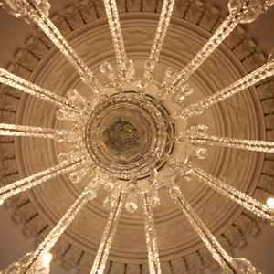The Magnificent Chandelier at Choctaw Hall.