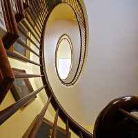 Spiral Staircase at Choctaw Hall.