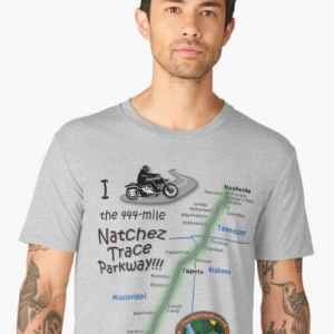 I Rode the Natchez Trace - Premium T-Shirt