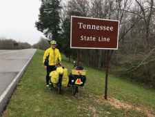 Steve at the Tennessee State Line