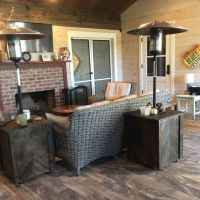 Screened Porch with Fireplace and TV