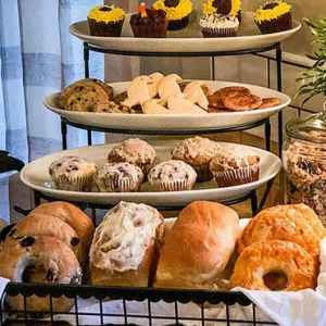Fresh Pastries at Meriwether's Retreat B&B
