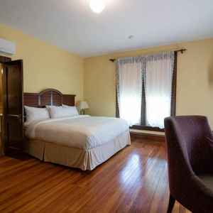 One of the spacious guest rooms - all with a king size bed and private bathroom.
