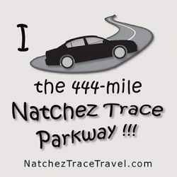 Natchez Trace Parkway - Car Sticker