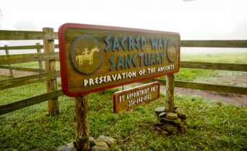 Entrance to Sacred Way Sanctuary Wildlife Preserve - Preservation of the Ancients