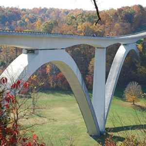 Birdsong Hollow and Double Arch Bridge - Natchez Trace Parkway