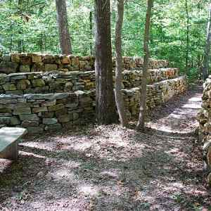 Wichahpi Commemorative Stone Wall (Te-lah-nay's Wall) - Florence, Alabama