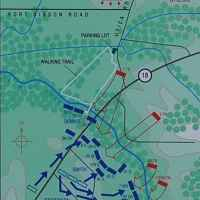 Map showing the battle lines at Raymond Military Park.
