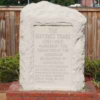 Natchez Trace marker placed by Daughters of the American Revolution in 1912.