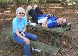 Ken and his wife Jane taking a rest.