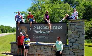 Group picture at Southern Terminus of the Natchez Trace Parkway