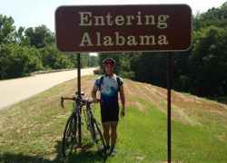 Rollin thru Alabama.