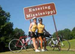 Two states down, one to go! But, we still have over 300 miles to bike.